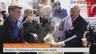 Düziçi Belediye Başkanı Ökkeş NAMLI Çorba Dağıttı