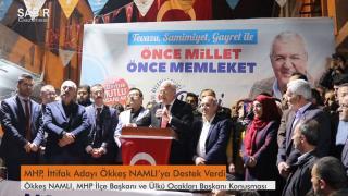Düziçi'nde MHP`den Ak Parti belediye başkan adayı Ökkeş NAMLI`ya Destek