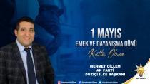 Çillem ''Emekleri, alın terleriyle daha güzel bir Türkiye için çalışanlara şükran borçluyuz''