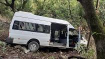 Düziçi'nde öğrenci servisi şarampole yuvarlandı:10 yaralı